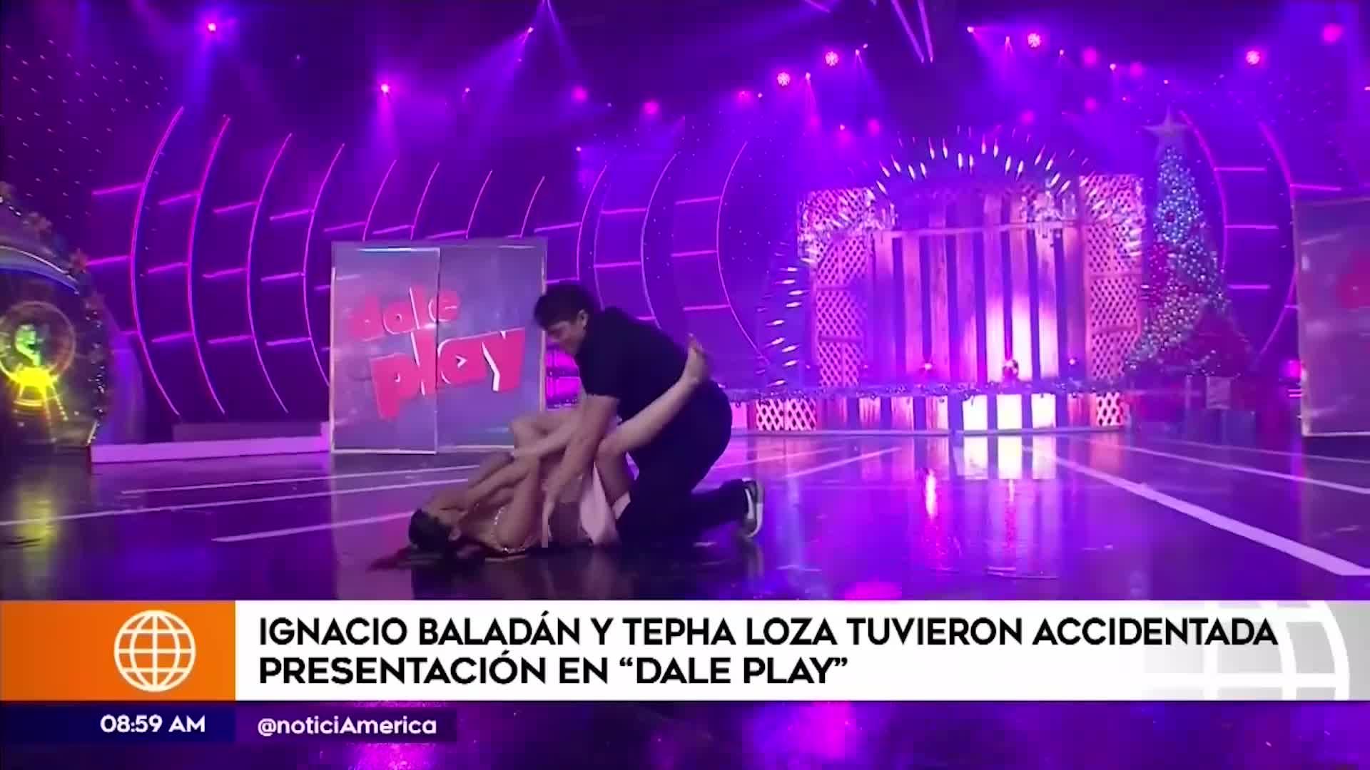 EEG: Stephanie Loza sufrió vergonzosa caída por culpa de Ignacio Baladán