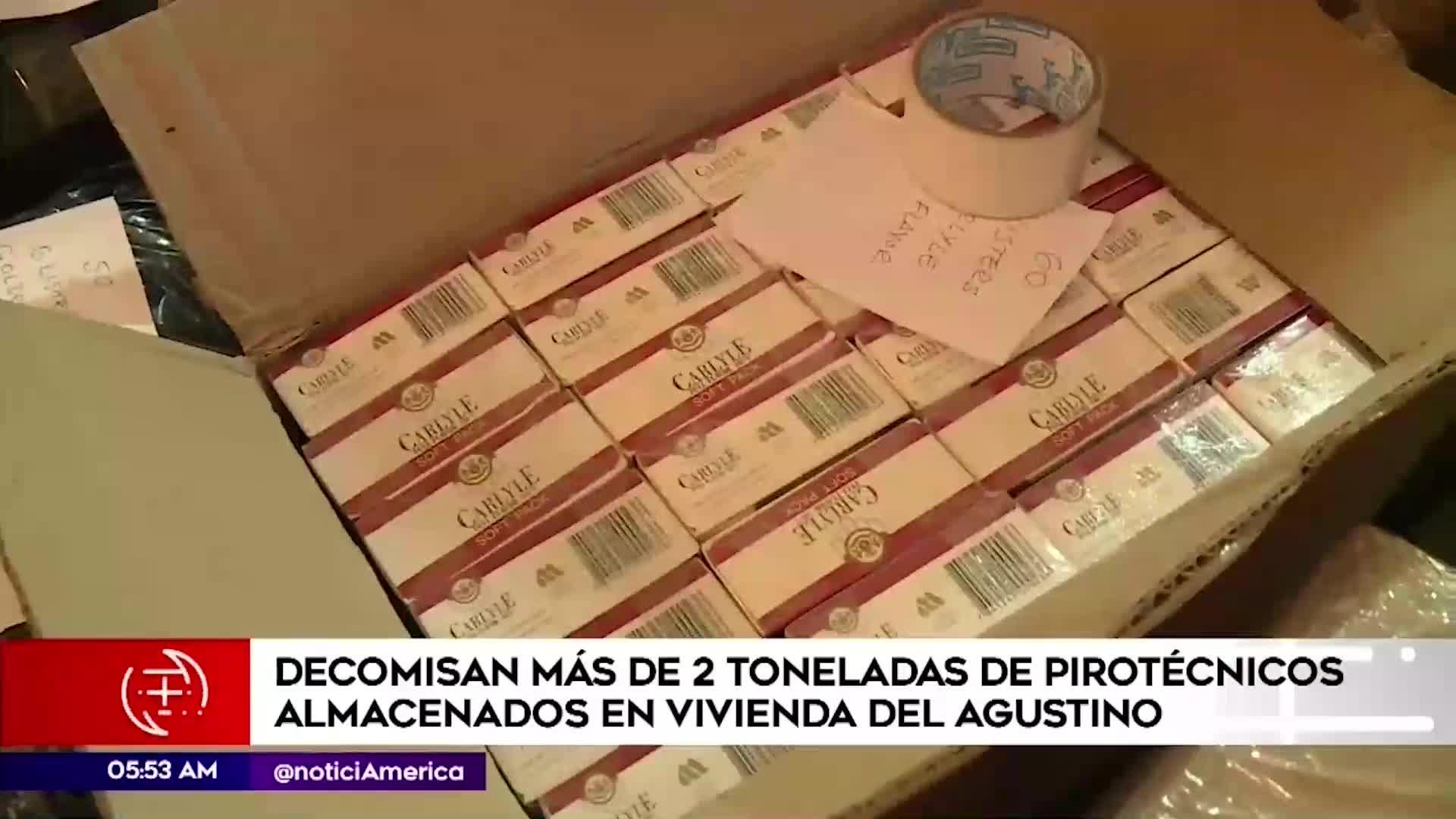 El Agustino: decomisan más de dos toneladas de pirotécnicos almacenados en una vivienda