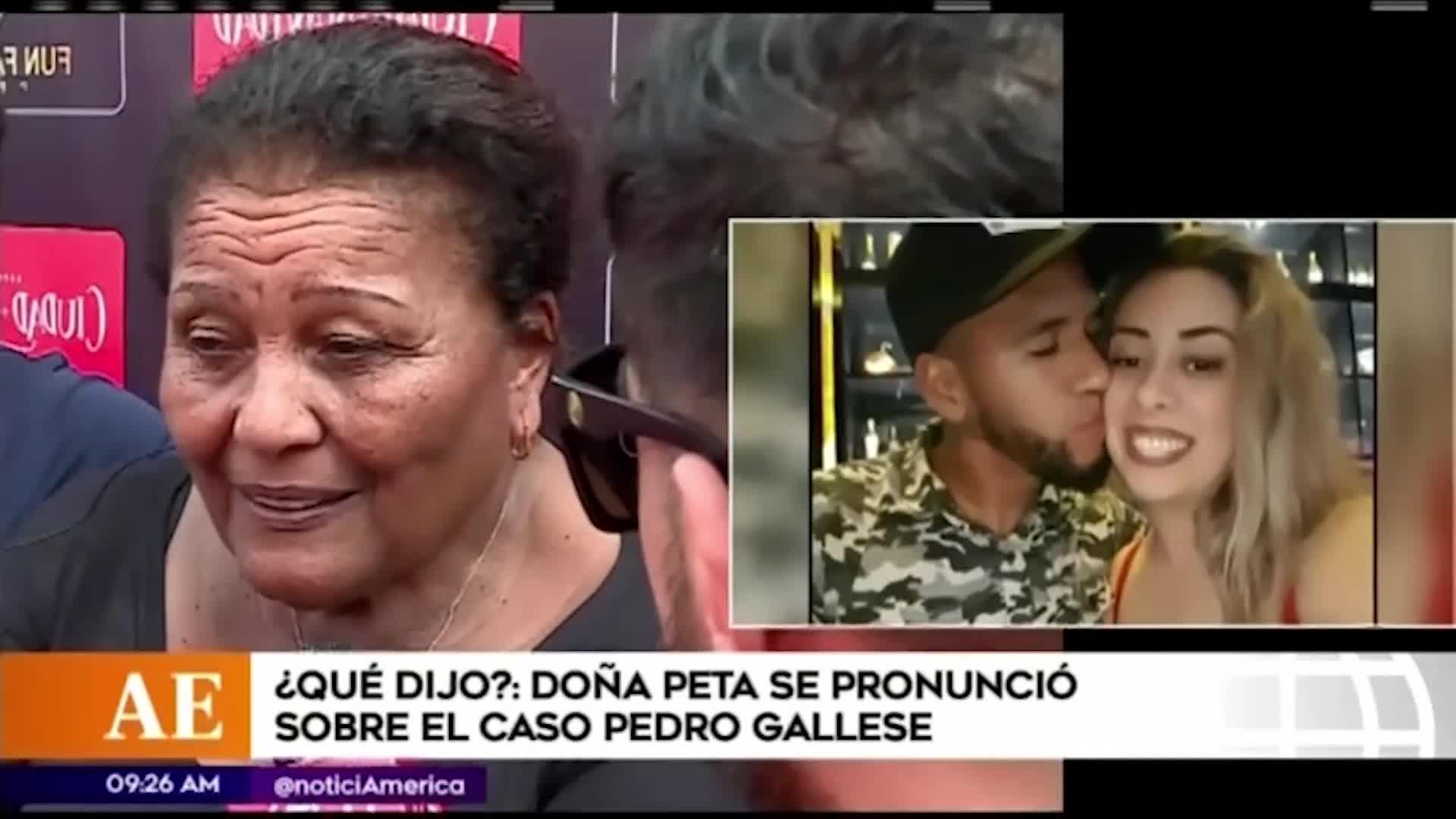 """Doña Peta sobre infidelidad de Pedro Gallese: """"Se le chispoteó"""""""