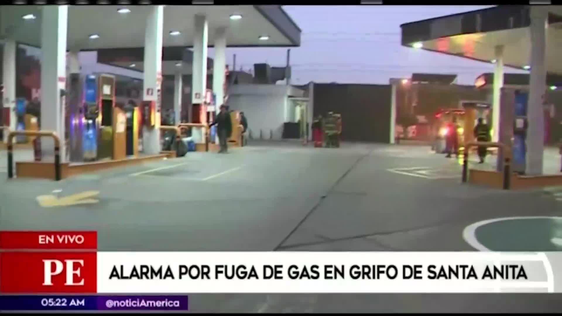 Santa Anita: fuga de gas causó alarma en grifo