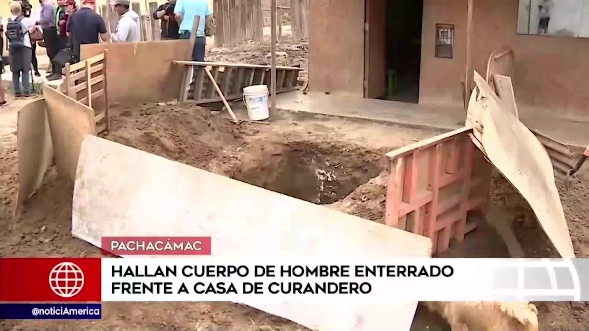 Pachacámac : hallan cadáver de un hombre enterrado en una vivienda