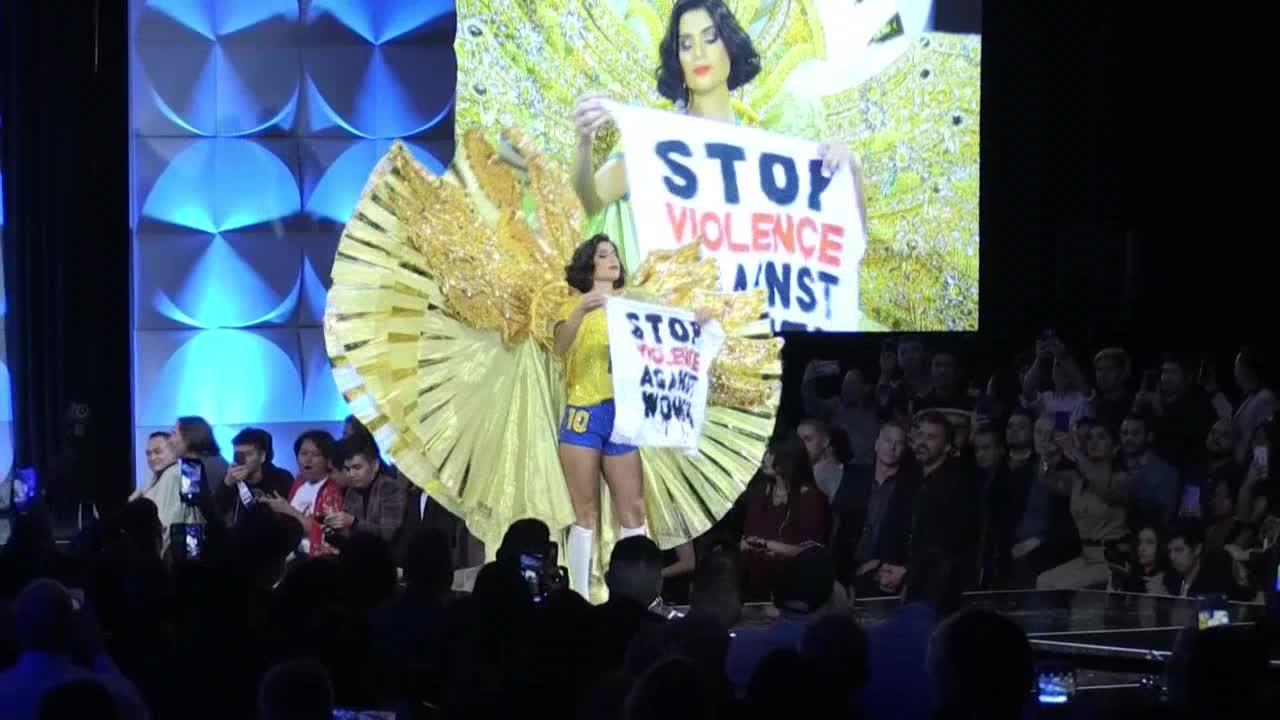 Miss Brasil reclama en Miss Universo el fin de la violencia contra las mujeres
