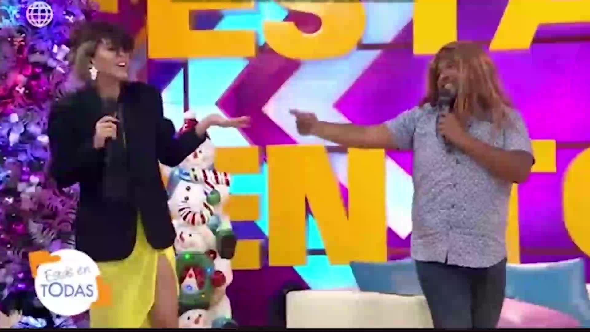 EET: mira aquí el duelo de actuación entre Sheyla Rojas y Choca Mandros