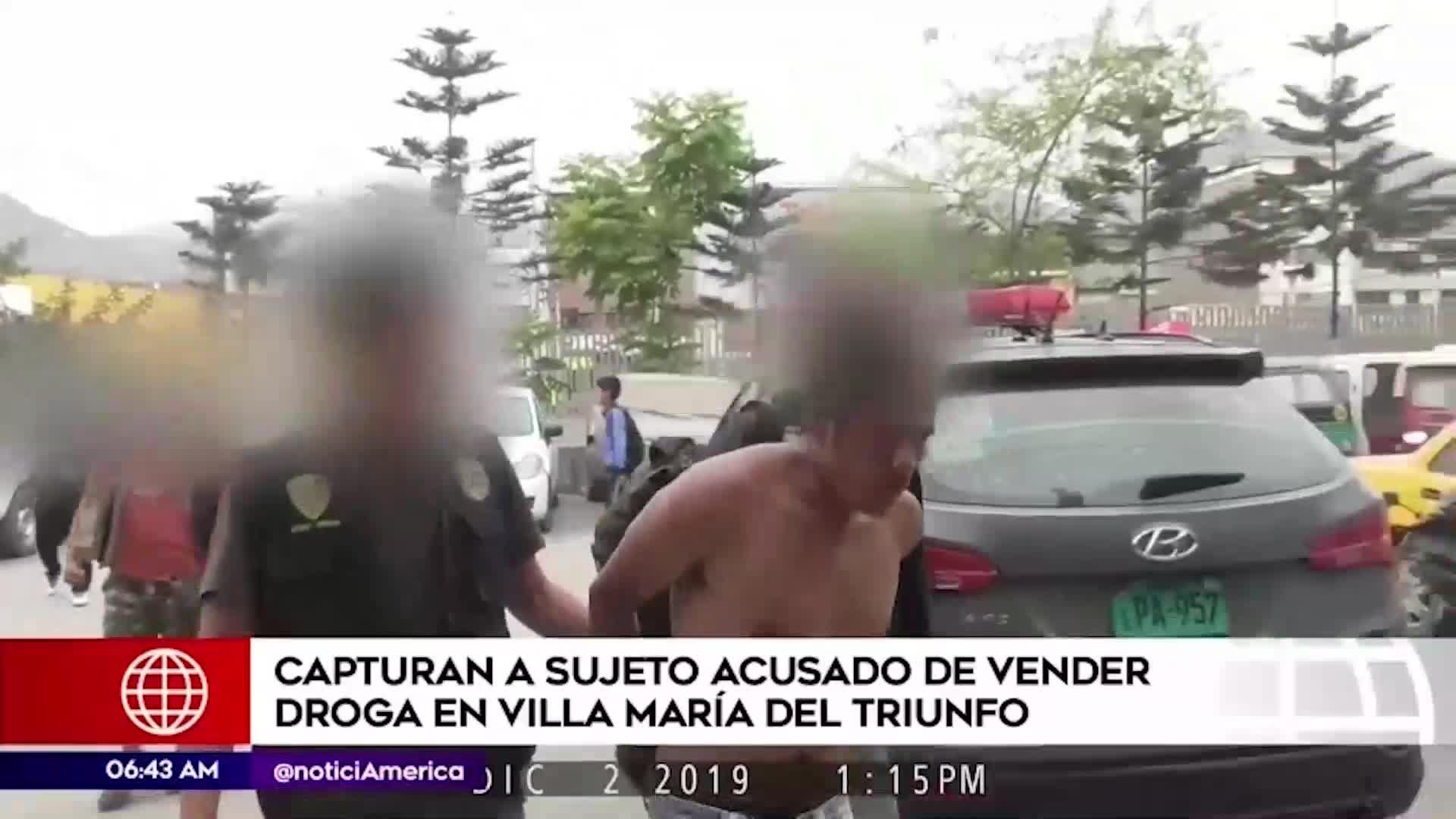 Cae sujeto que vendía droga en Villa María del Triunfo