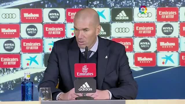 Zidane destaca el trabajo de Vinicius Jr. tras la victoria ante el Espanyol