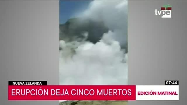 Erupción de volcán deja cinco muertos en Nueva Zelanda