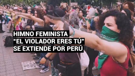 """""""El violador eres tú"""", el himno feminista que se extiende  por Perú"""