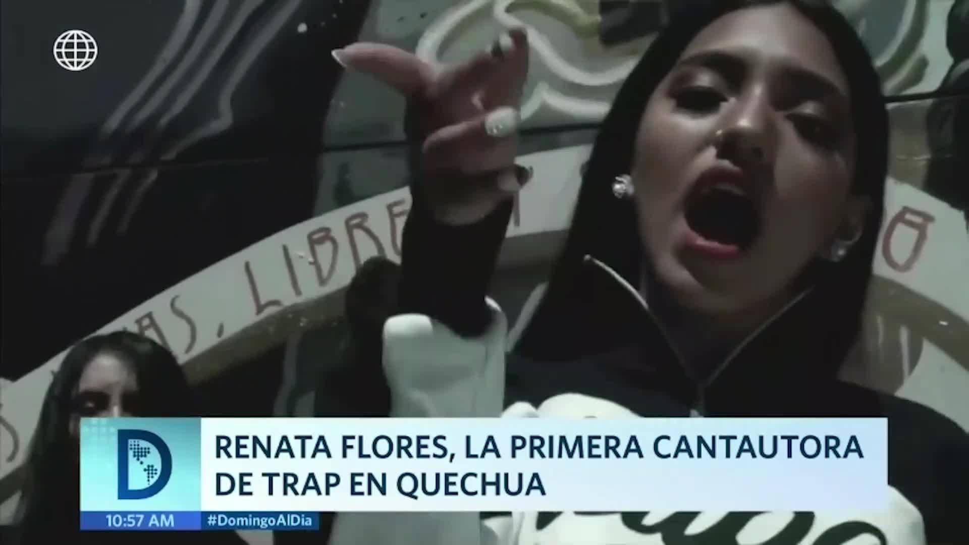 Cantautora ayacuchana Renata Flores canta trap en quechua