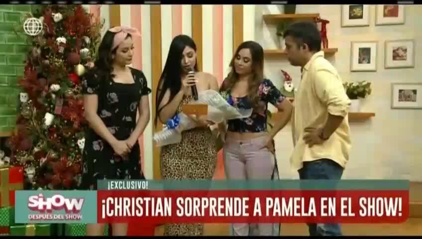 ESDS: Christian Domínguez sorprende en vivo a Pamela Franco