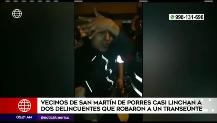 San Martín de Porres: vecinos atraparon a dos delincuentes que asaltaron a transeúnte