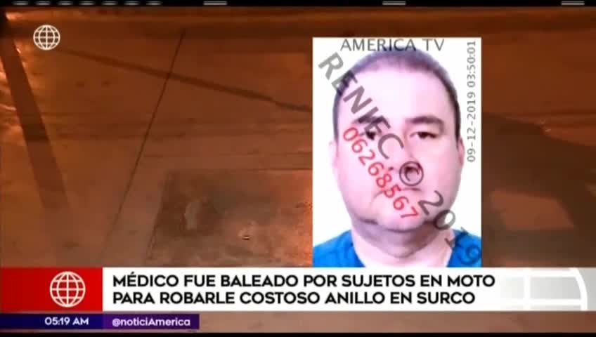 Surco: asesinan a médico que se resistió al robo de costoso anillo