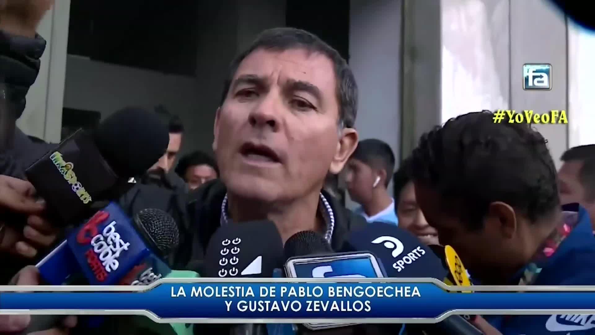 Así fue le airado reclamo de Gustavo Zevallos contra los árbitros tras finalizar el partido con Binacional