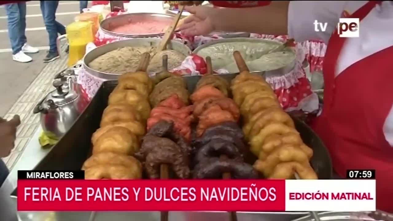 Dulce feria de postres navideños en Miraflores