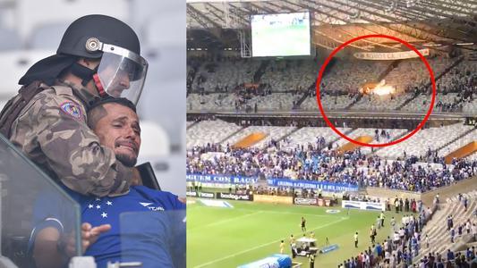 Hinchas de Cruzeiro provocan graves incidentes tras descenso a serie B