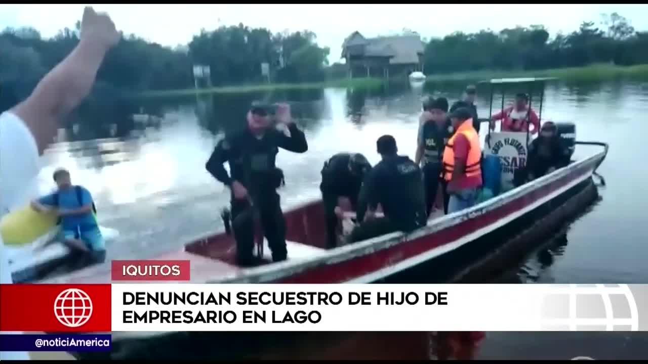 Loreto: Delincuentes secuestran a hijo de empresario en río de Iquitos