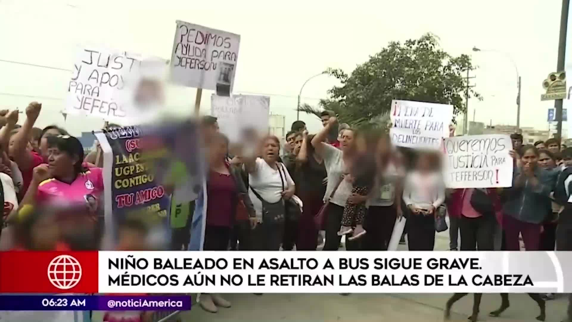 Carabayllo: Escolar continúa grave tras quedar herido de bala en asalto a bus
