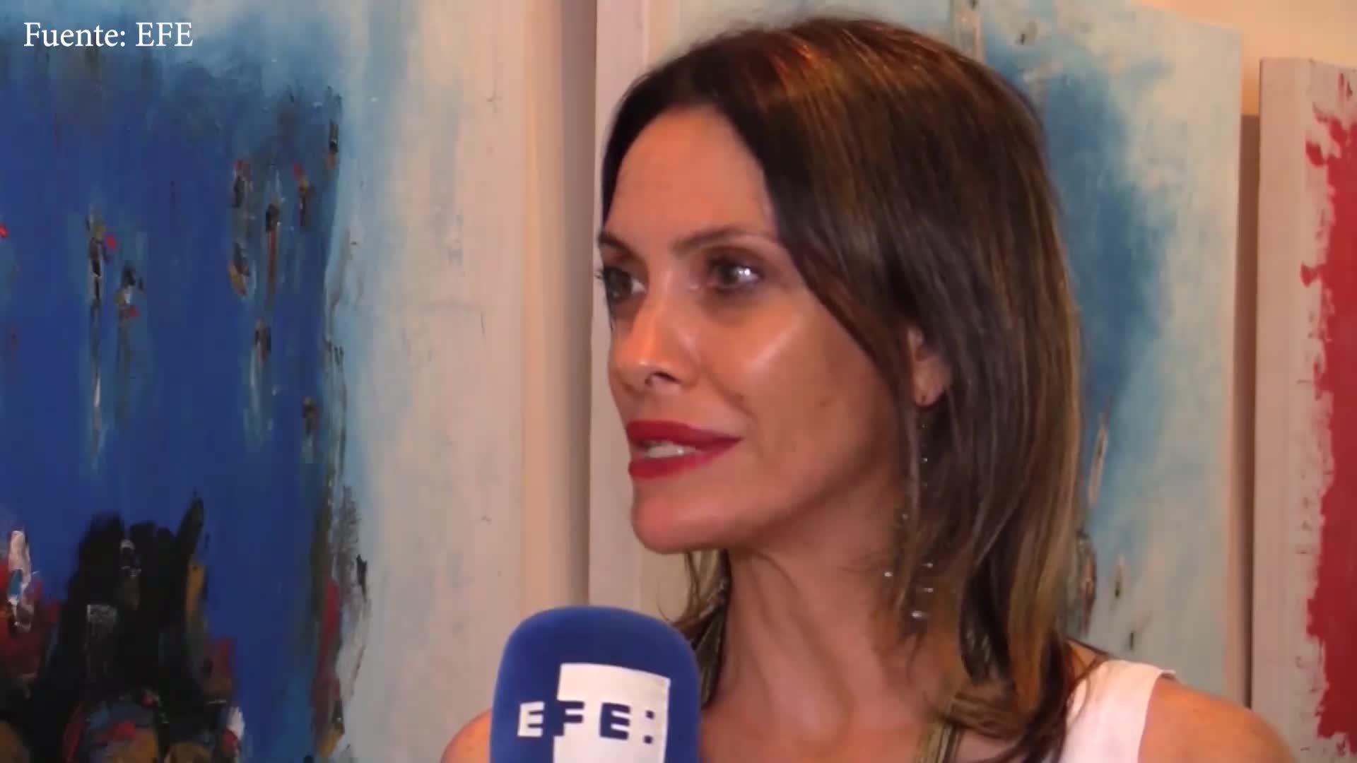 La artista uruguaya Lucía Bonfiglio expone su mensaje de paz en Brasil