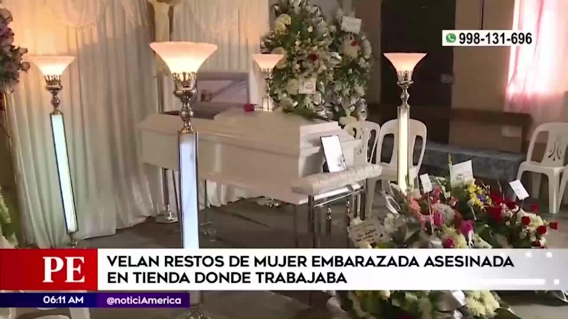 Velan cuerpo de mujer embarazada que murió a manos de delincuentes