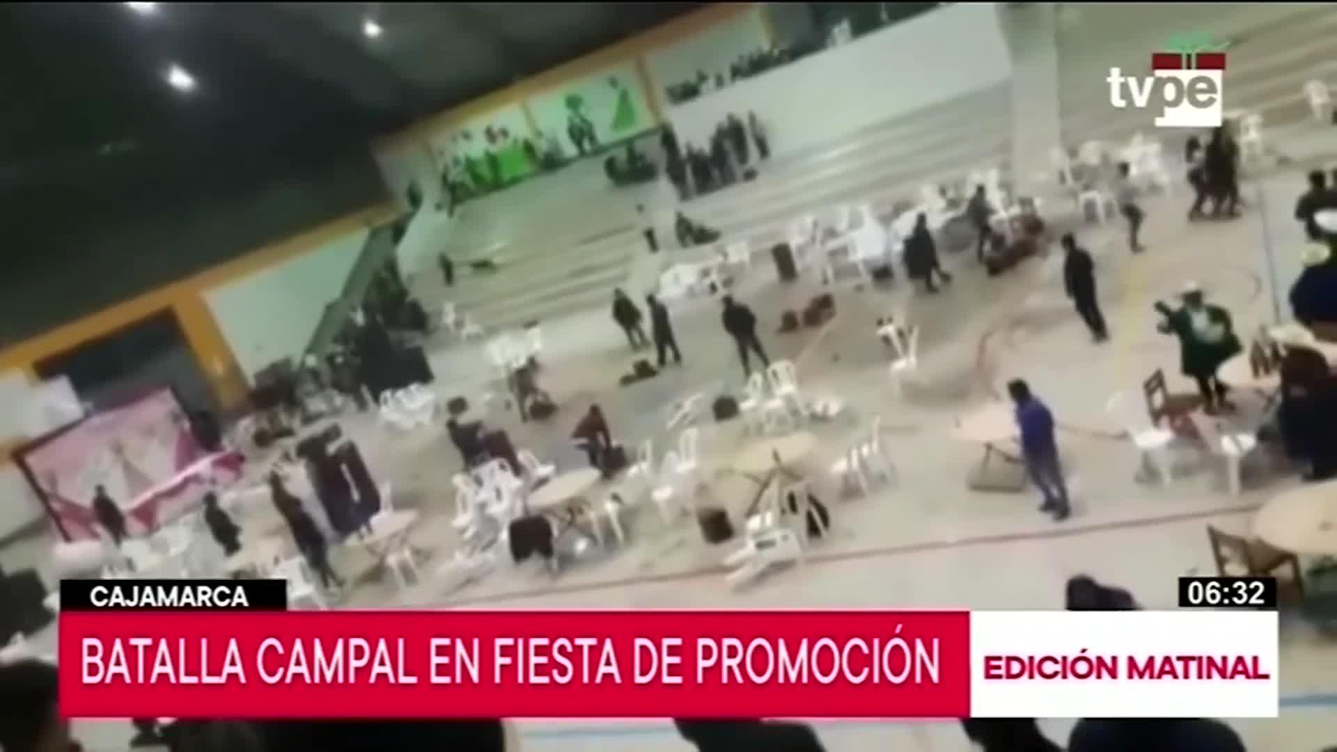 Cajamarca: fiesta de promoción termina en gresca