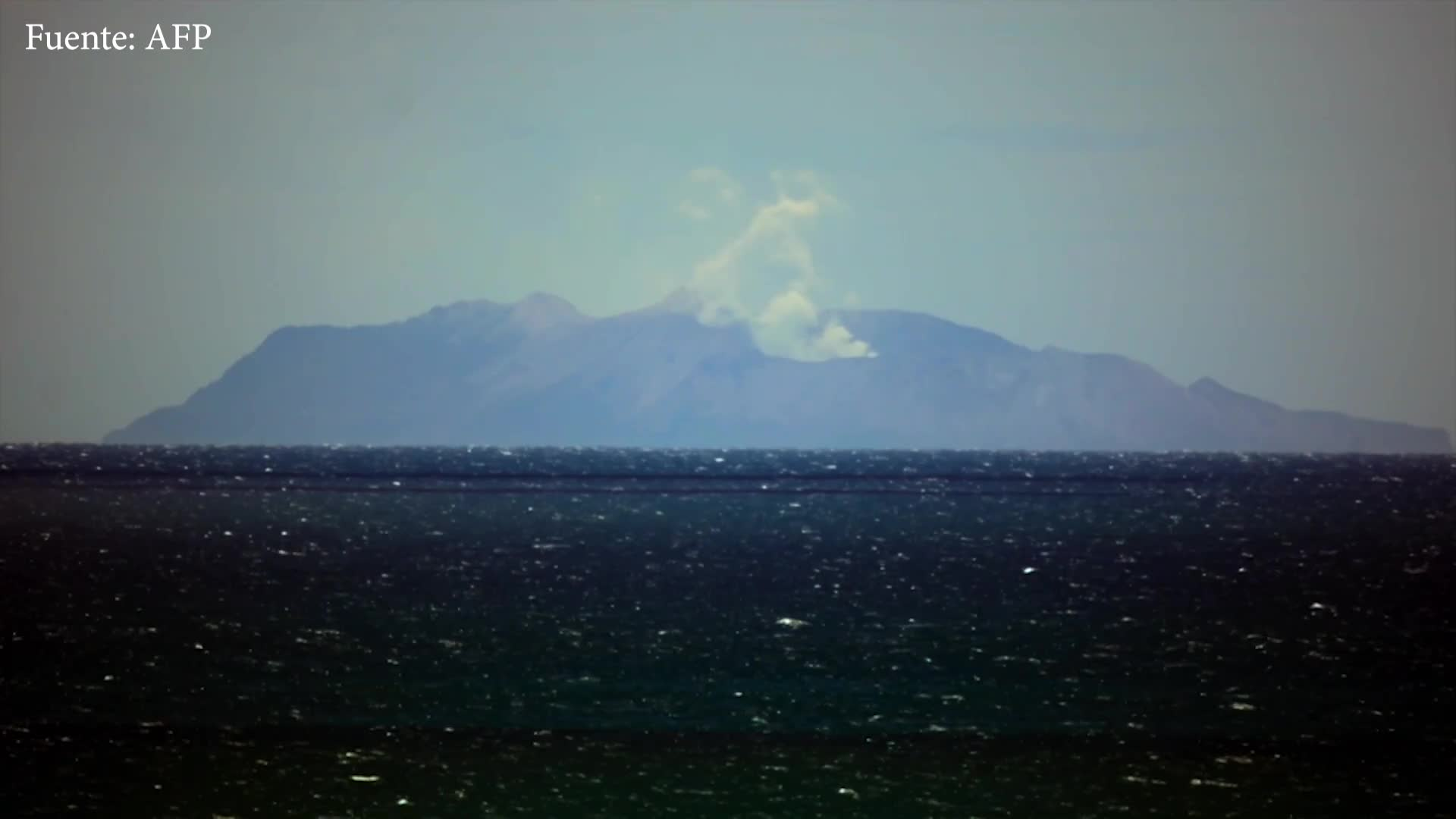 El día después de la erupción de volcán en Nueva Zelanda