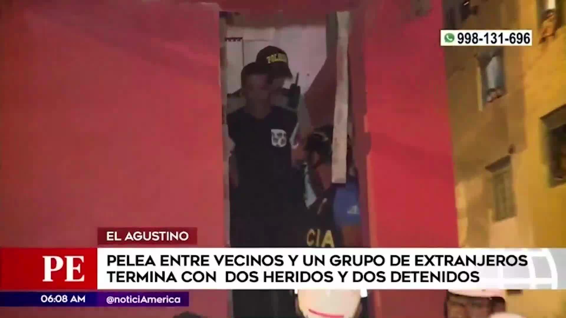 El Agustino: dos hermanos resultan heridos tras ser atacados por ciudadanos extranjeros