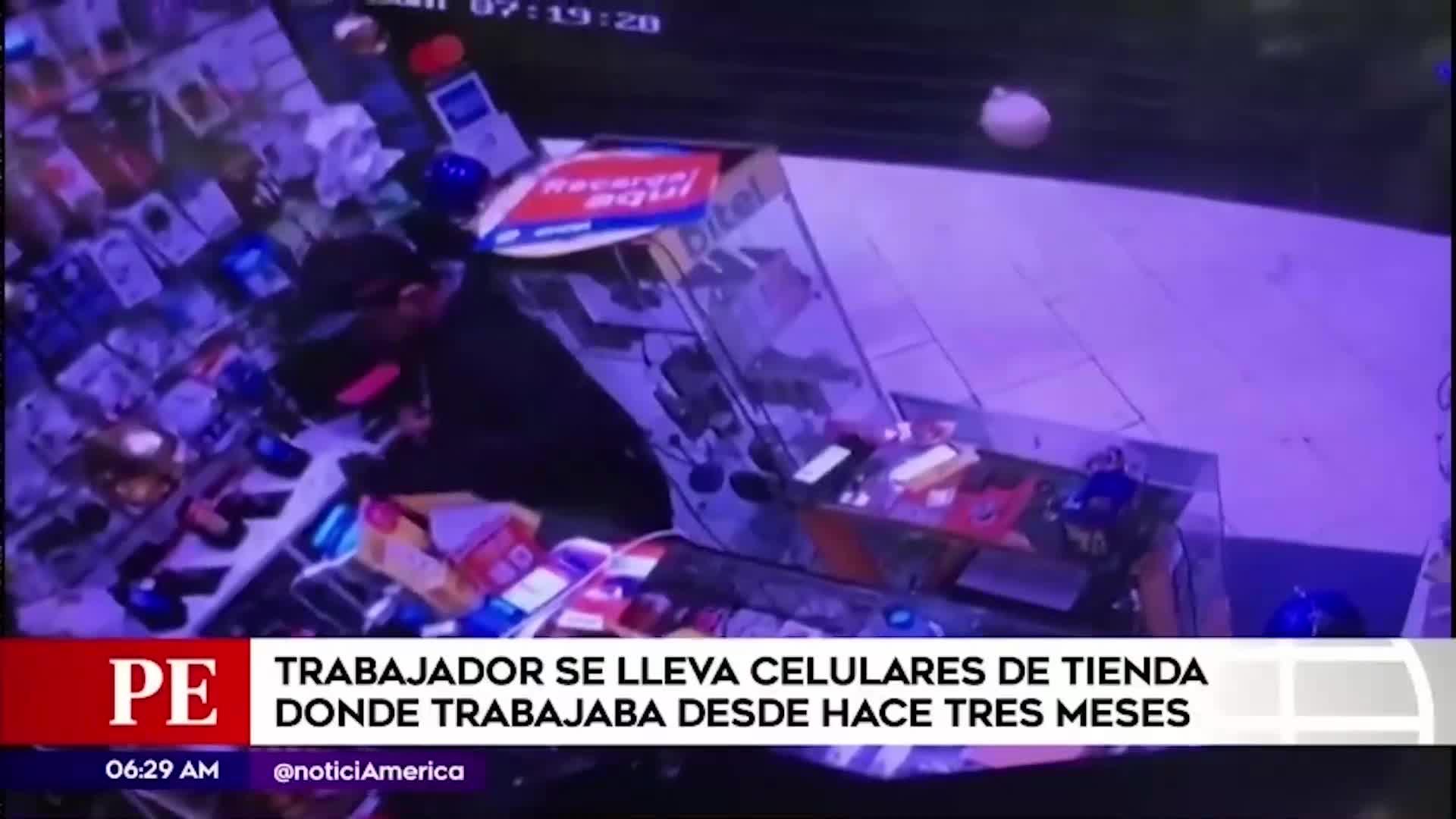 Chorrillos: trabajador roba celulares de local dónde trabajaba