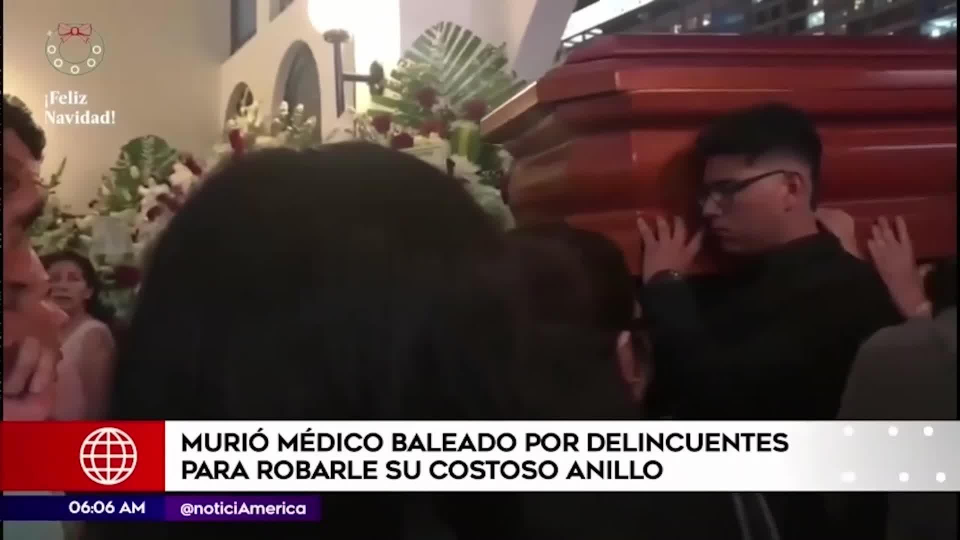 Muere médico baleado por delincuentes que le robaron costoso anillo