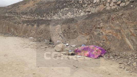 Encuentran cadáver quemado de una mujer en el cerro Centinela en Villa María del Triunfo