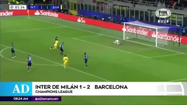 Inter de Milán jugará la Europa League al caer frente a Barcelona