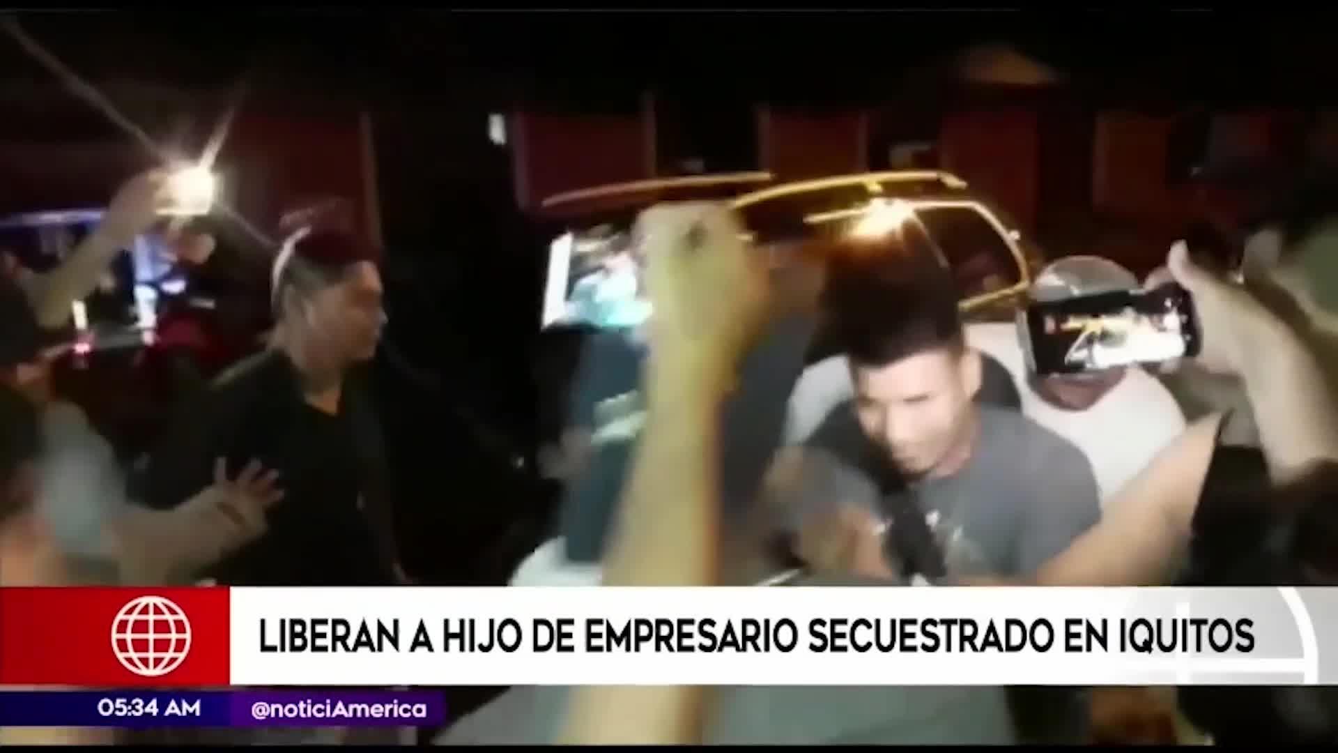 Hijo de empresario secuestrado fue liberado en un río de Iquitos
