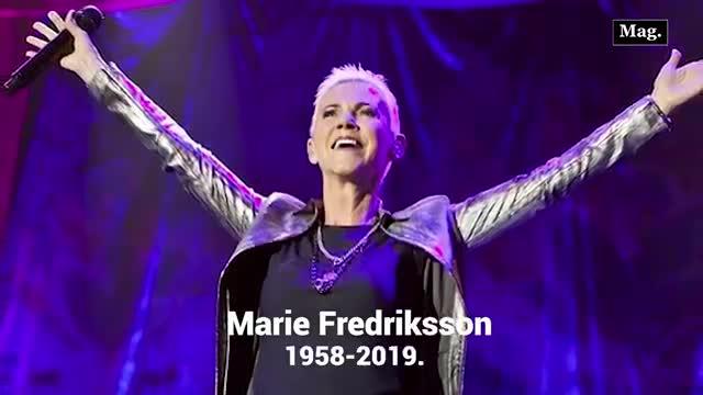 Marie Fredriksson, vocalista de Roxette murió a los 61 años
