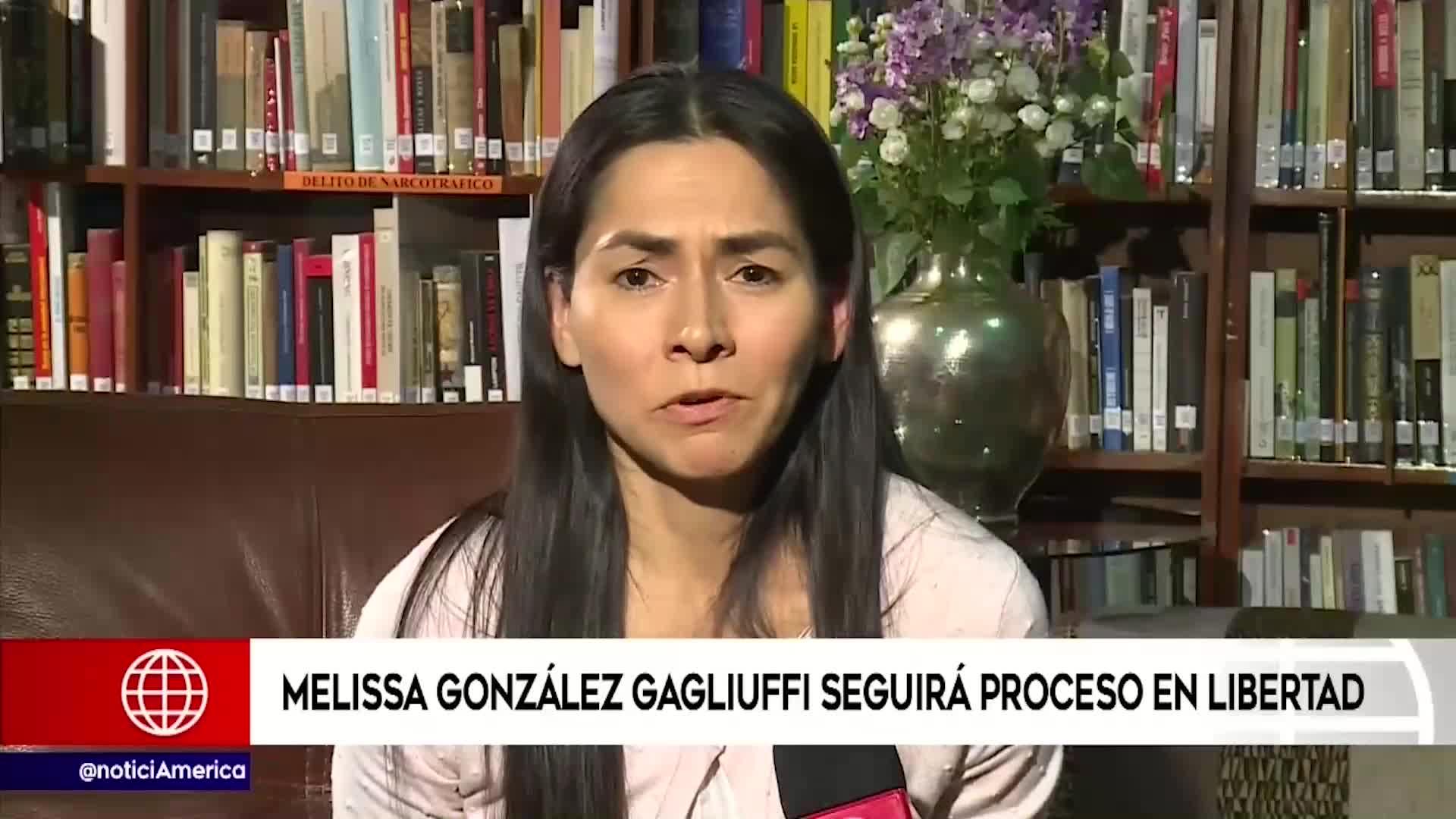 Melisa González Gagliuffi será liberada tras anularse la prisión preventiva en su contra