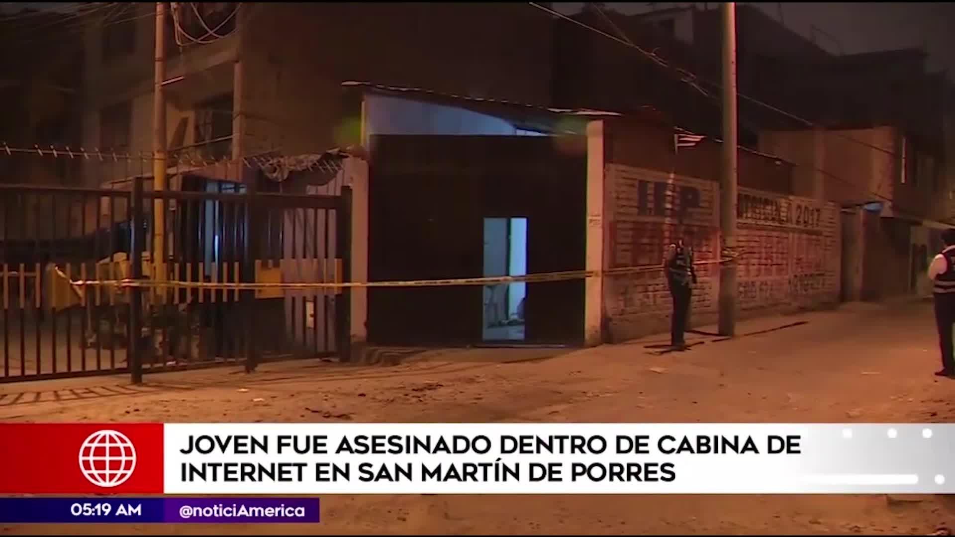 SMP: asesinan a joven en cabina de internet