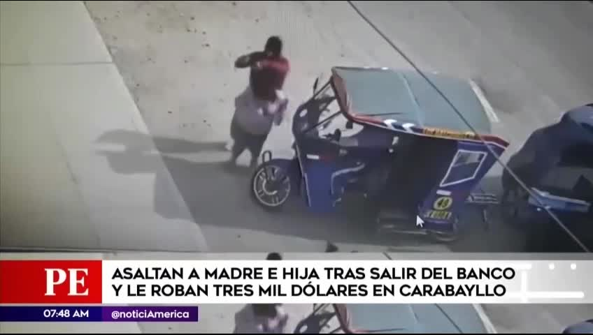 Carabayllo: asaltan a madre e hija al salir del banco y se llevan tres mil dólares