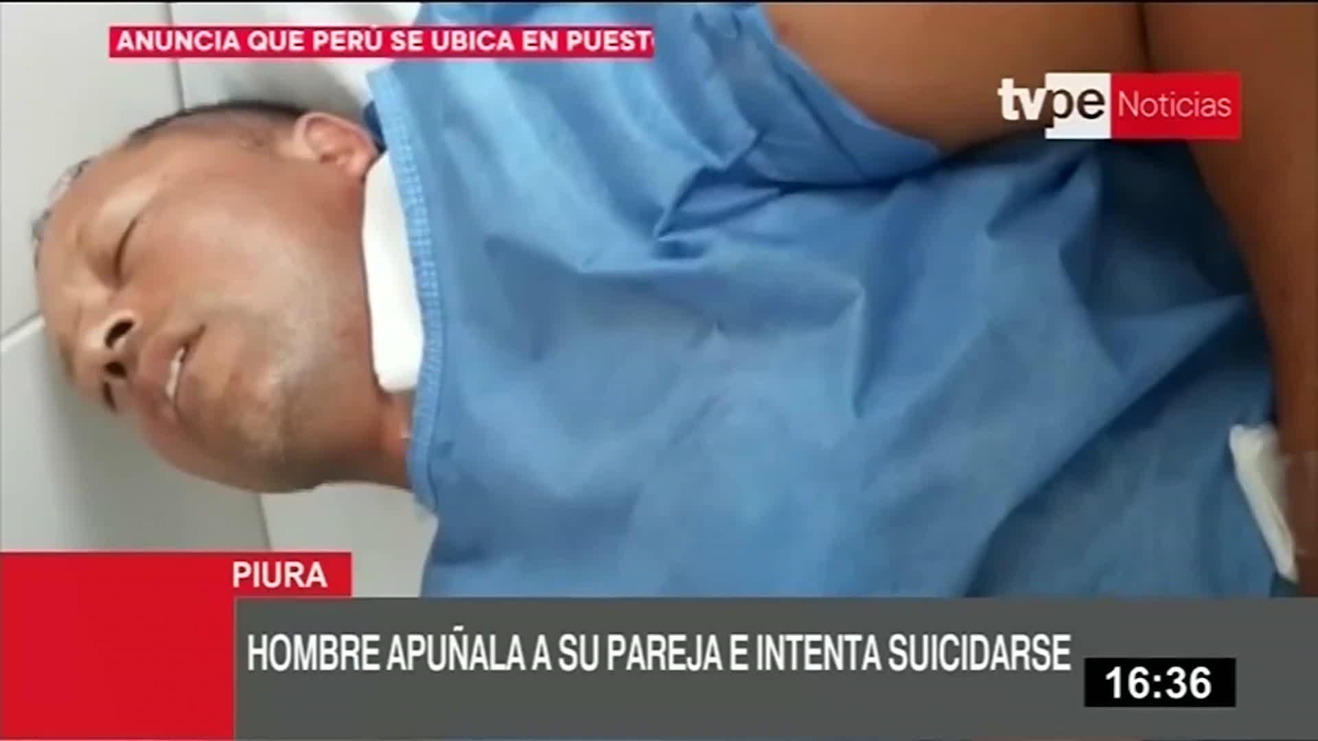 Hombre intenta suicidarse luego de apuñalar a su pareja