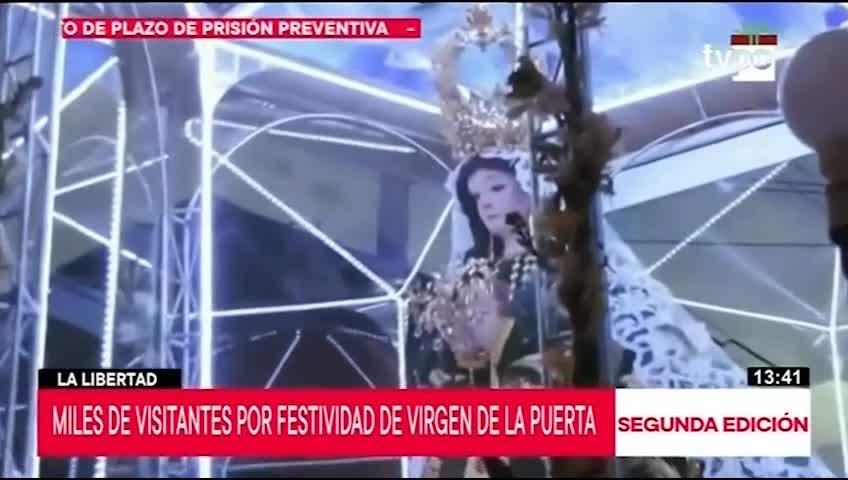 Miles de personas visitarán La Libertad por Festividad de Virgen de la Puerta