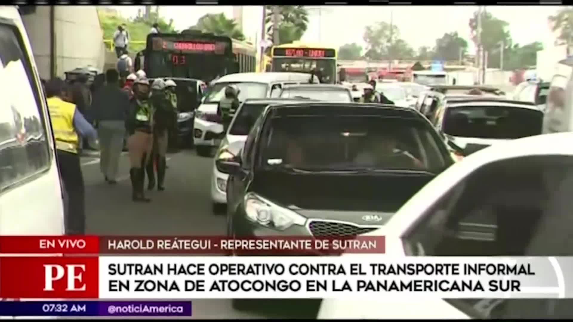 Lima: Sutran realiza operativo en Panamericana Sur