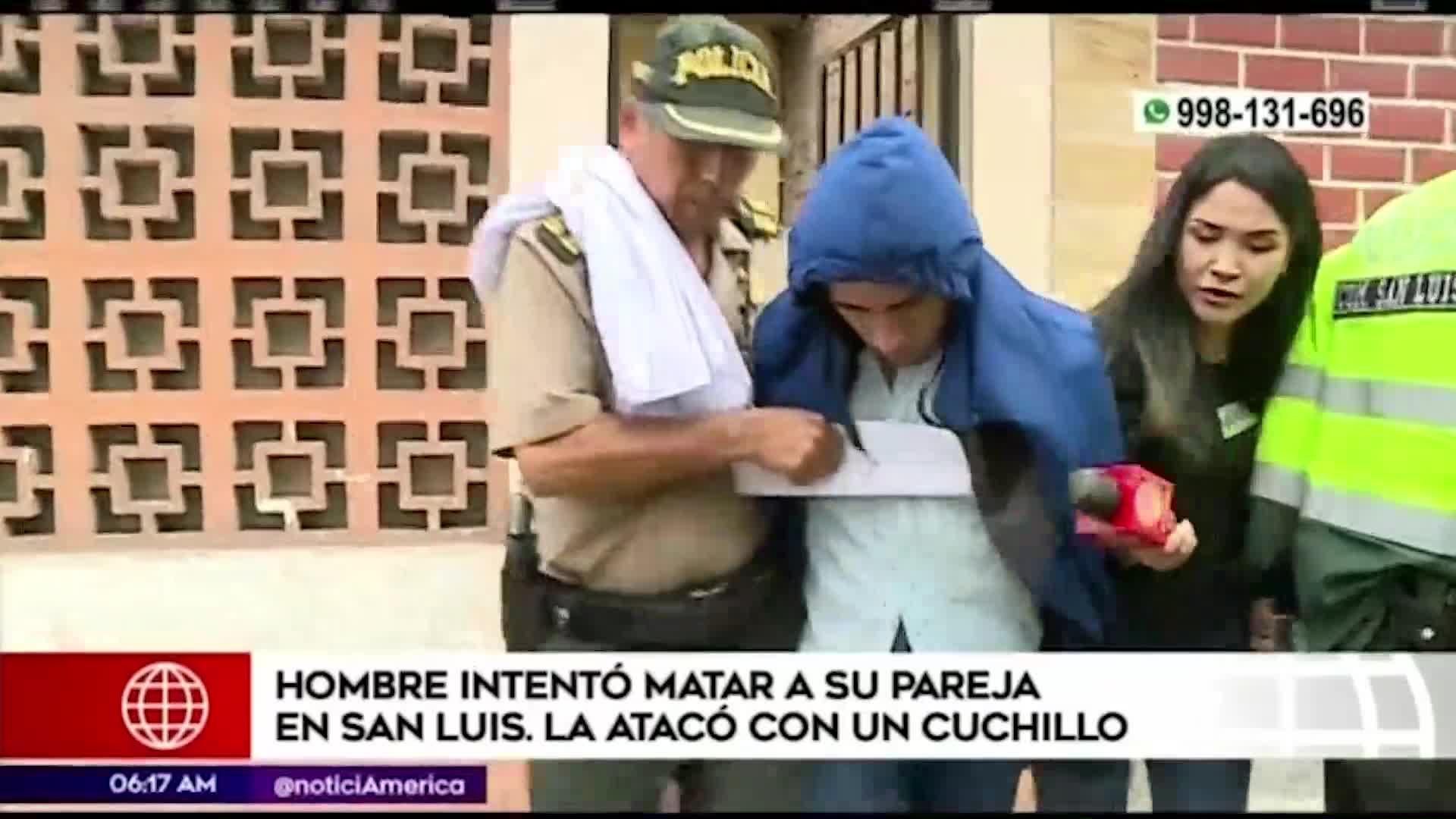 San Luis: hombre intentó asesinar a su pareja con un cuchillo