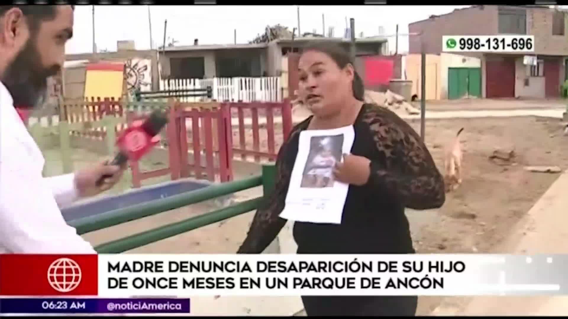 Ancón: madre denuncia desaparición de su bebé de 11 meses de nacido