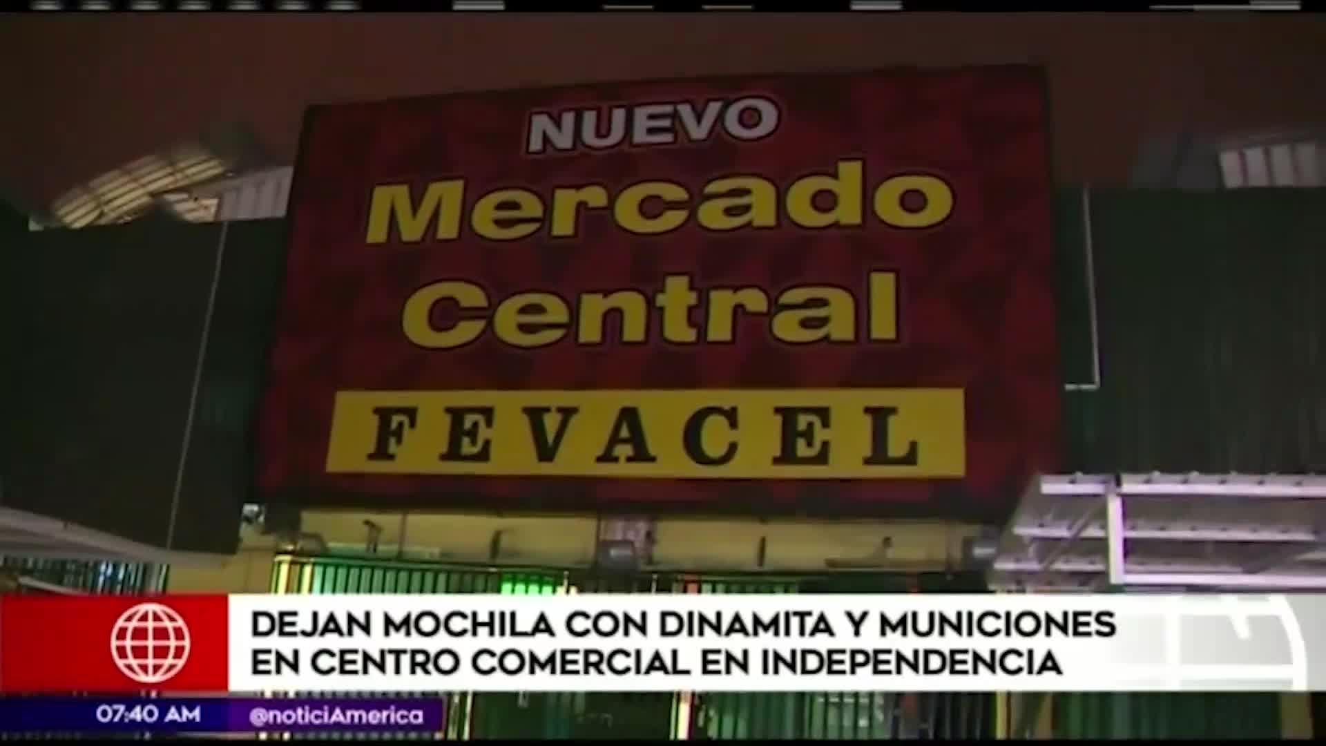 Independencia: hallan mochila con dinamita en centro comercial