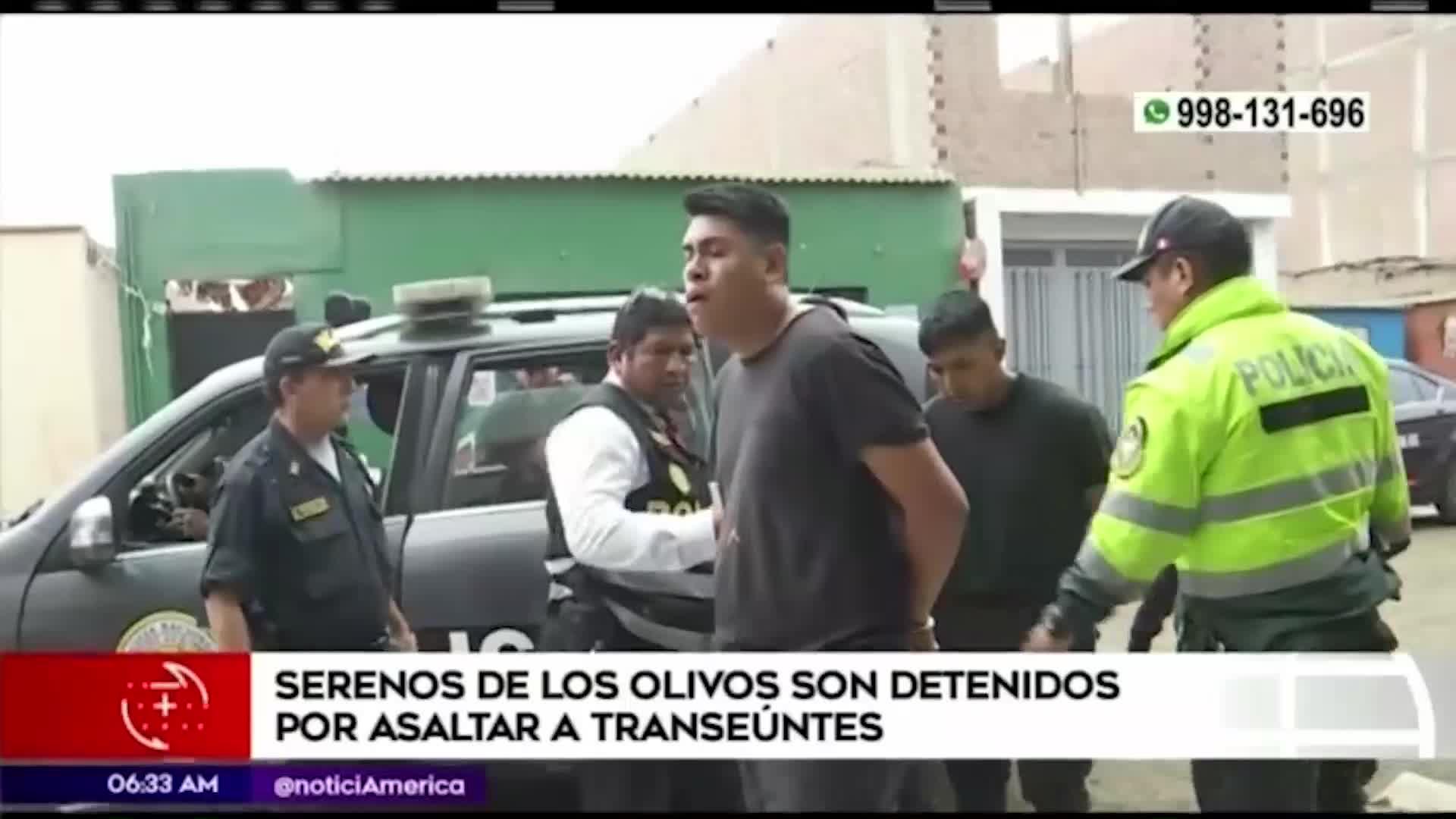 Carabayllo: capturan a delincuentes que vestían como serenos para asaltar a peatones