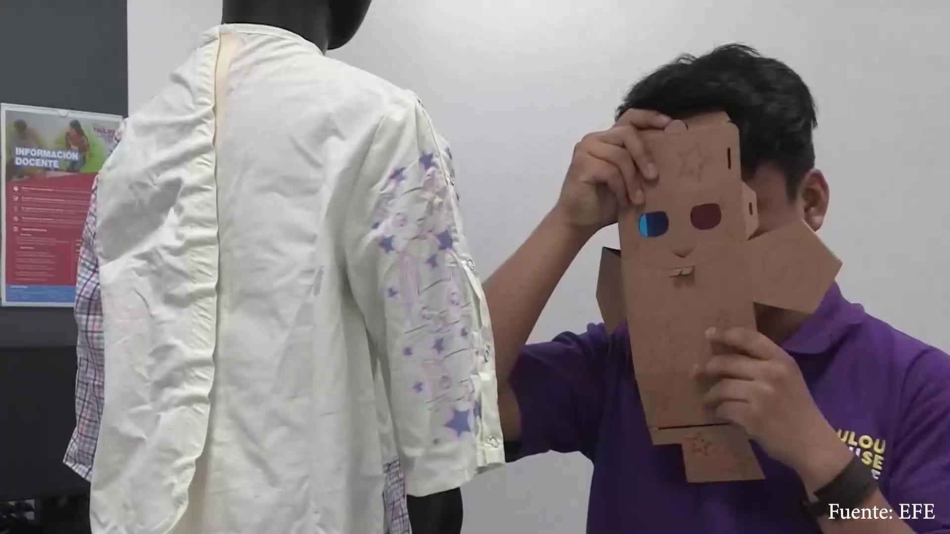 Niños quemados en Perú reciben pijama que ayuda a regenerar su piel