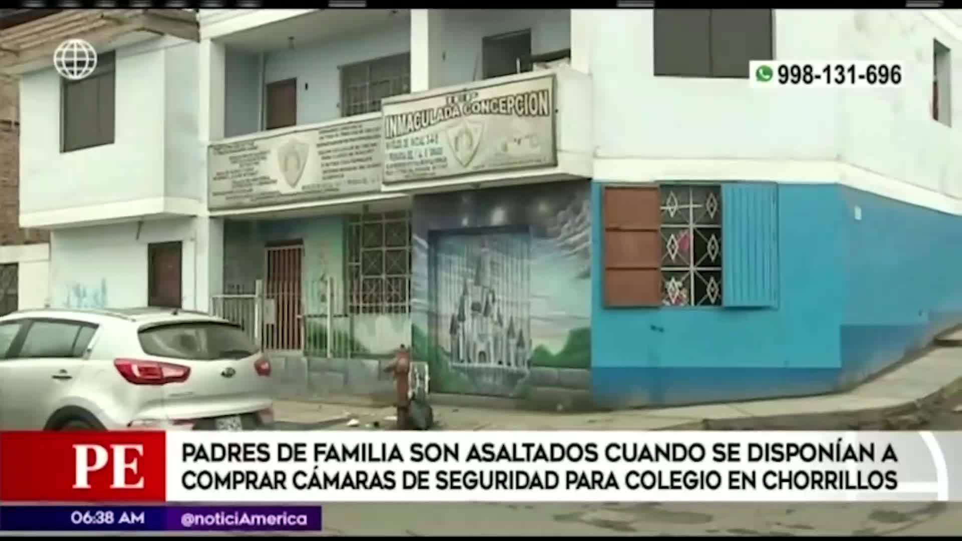 Delincuentes asaltan a padres de familia que estaban reunidos en colegio de Chorrillos