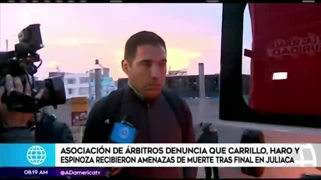 Árbitros peruanos denuncian amenazas de muerte