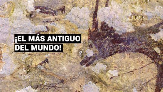 Descubren pintura rupestre más antigua de la humanidad en Indonesia