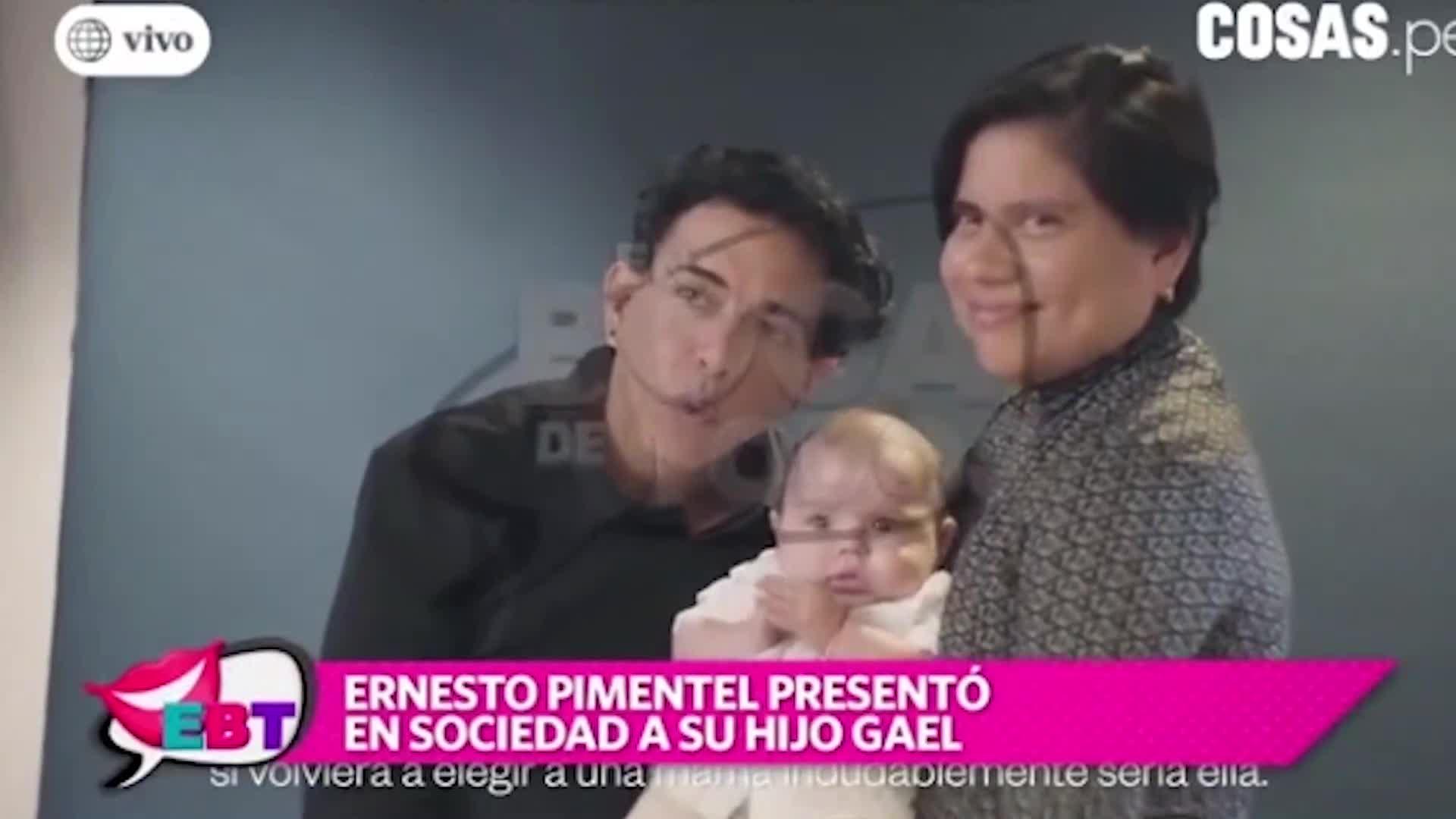 Ernesto Pimentel presentó a su hijo Gael en una tierna sesión de fotos