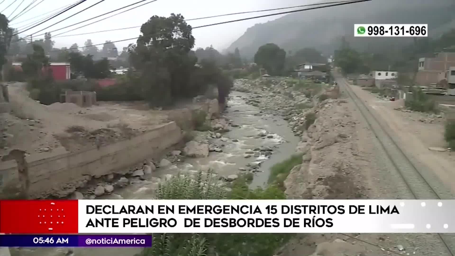 Declaran en emergencia varios distritos de Lima por peligros de inundaciones
