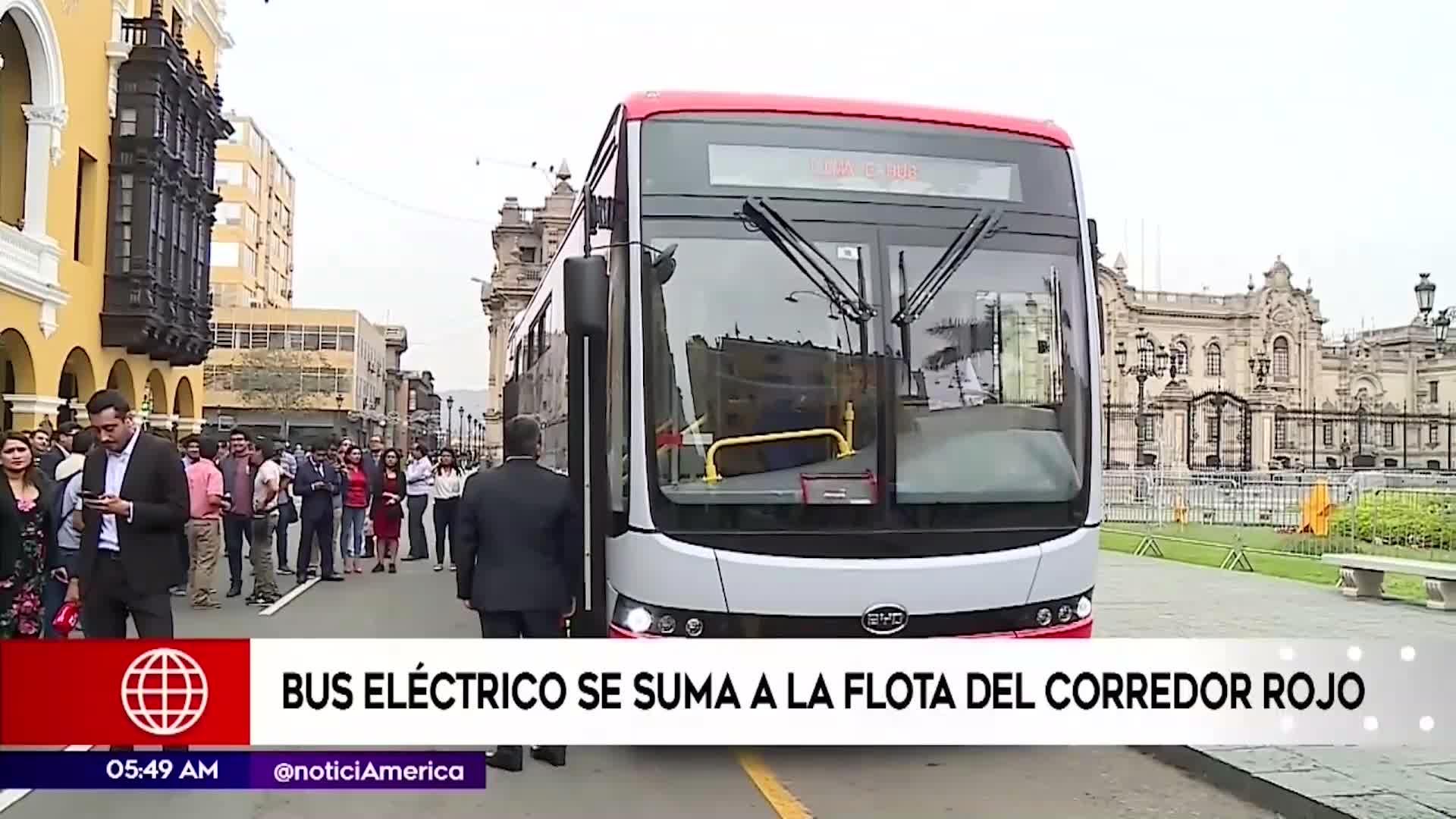 Municipalidad de Lima: Bus eléctrico se suma a la flota del Corredor Rojo