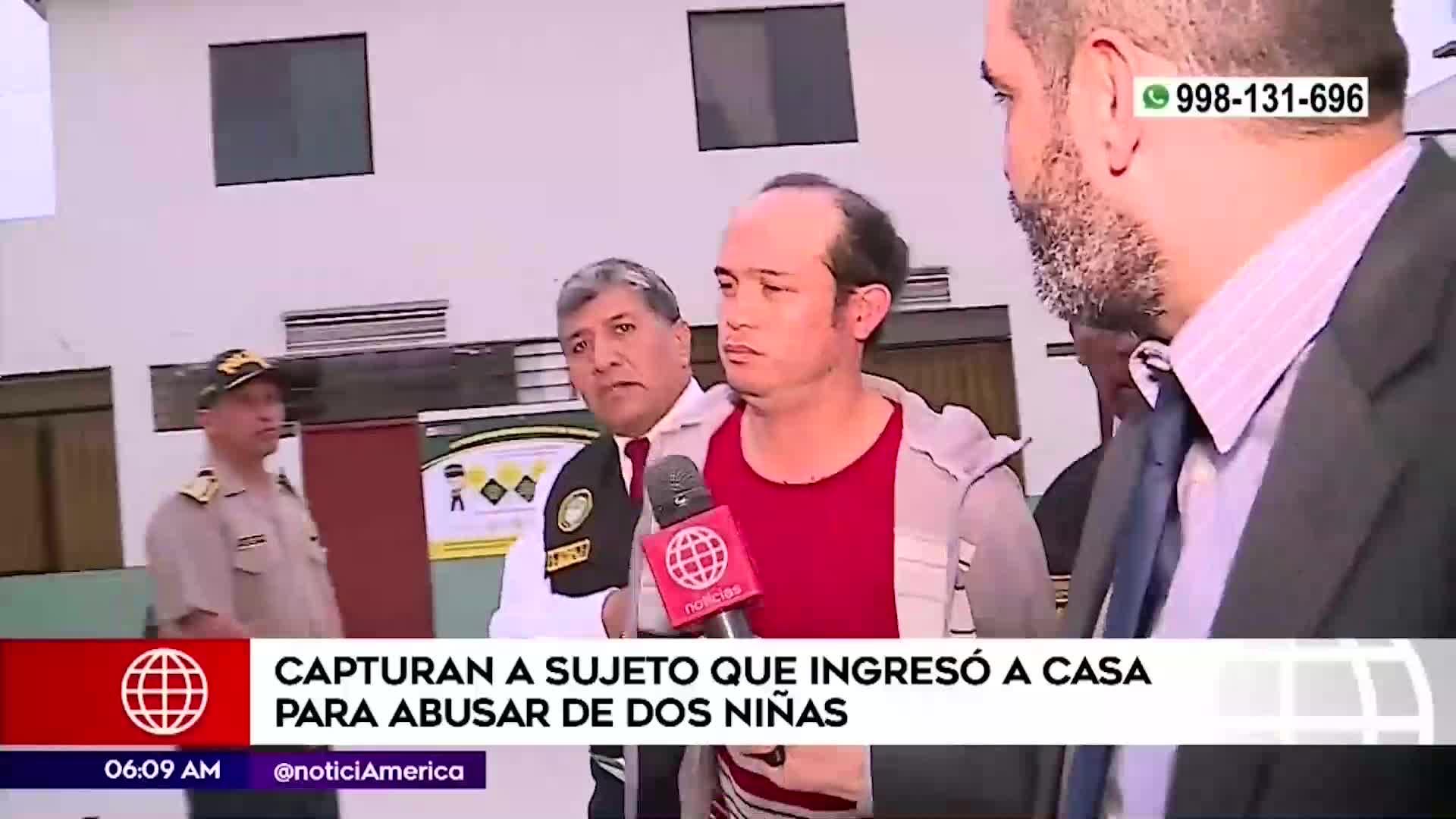 Los Olivos: Capturan a sujeto que ingresó a vivienda de dos niñas para abusar de ellas