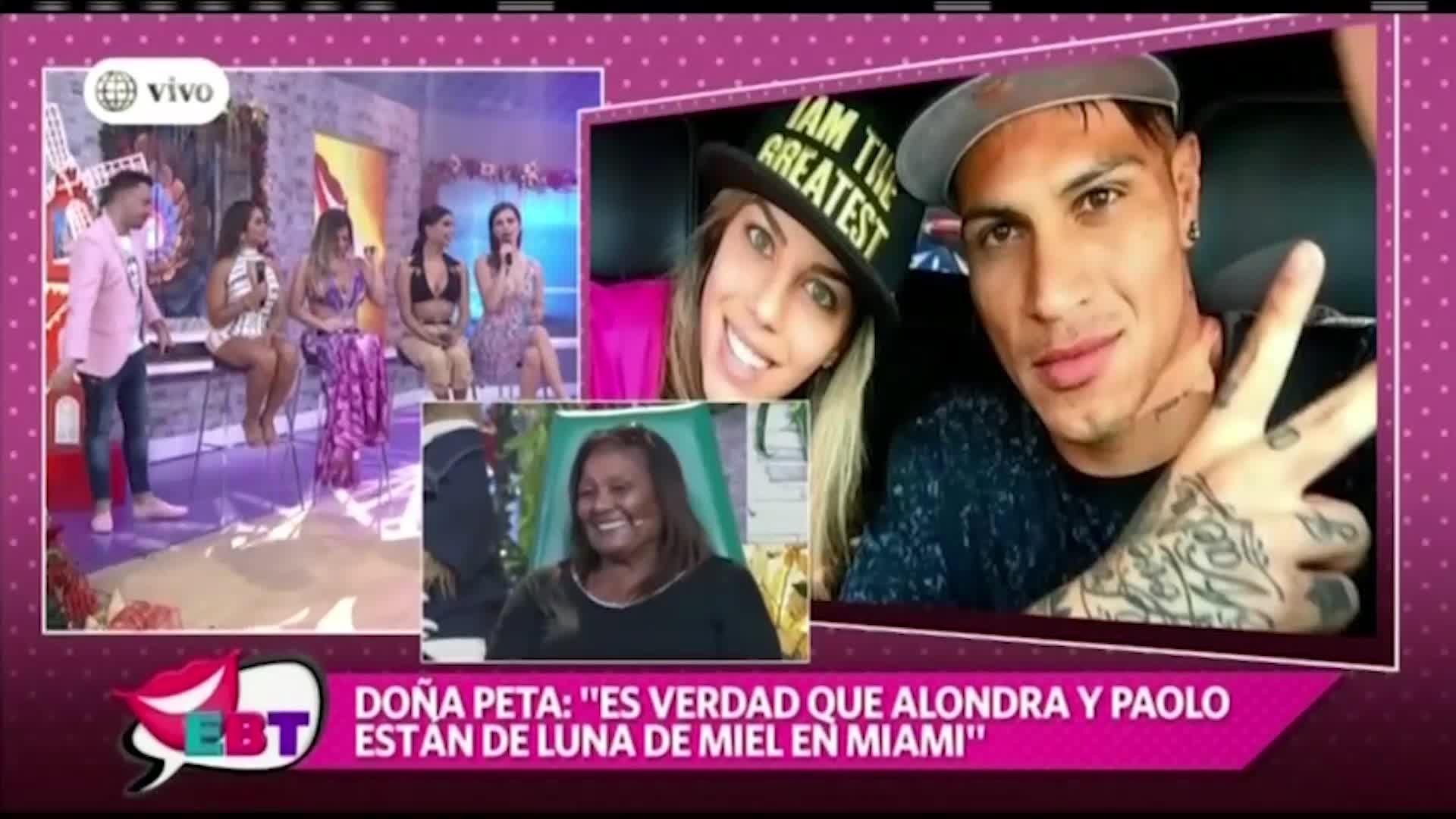 EBT: Doña Peta confirma que Alondra García Miró y Paolo Guerrero están de vacaciones en Estados Unidos